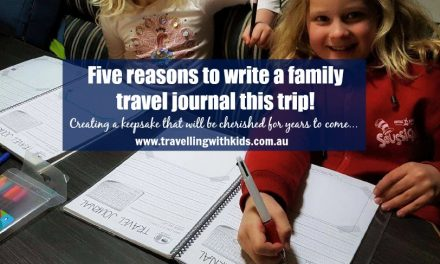 Five reasons to write a family travel journal this trip!