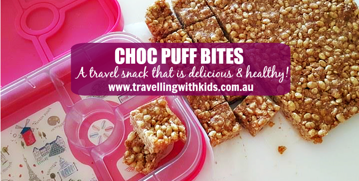 Healthy travel snack – Choc Puff Bites