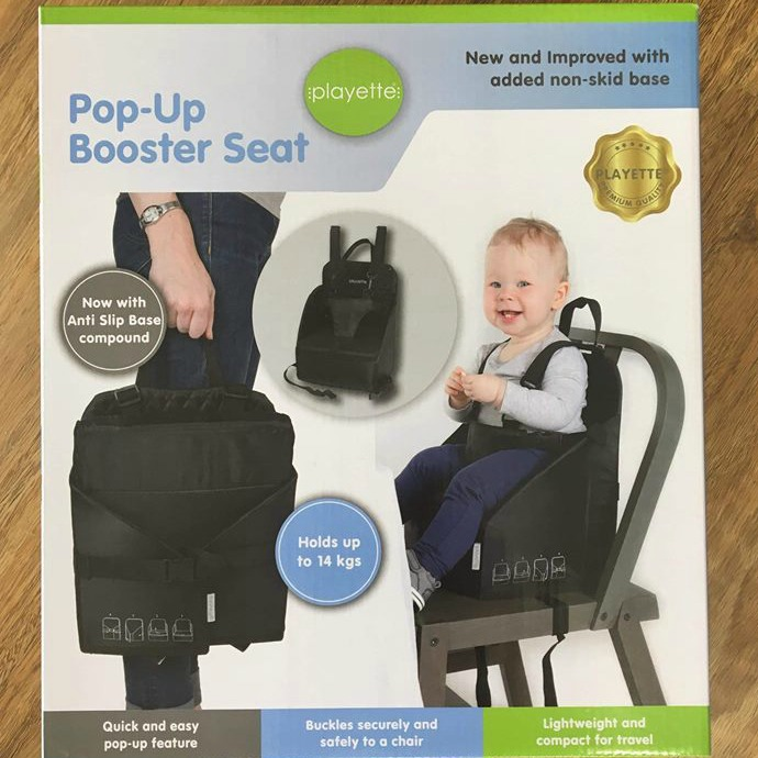Portable Pop Up Booster Seat For Travelling With Kids